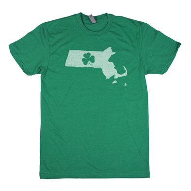 Shamrock Men's Unisex T-Shirt - Massachusetts