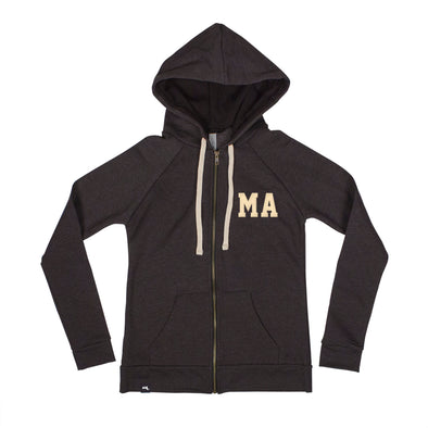 Shorthand Women's Zip Hoodie - Massachusetts