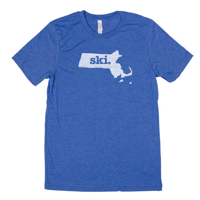 ski. Men's Unisex T-Shirt - Massachusetts