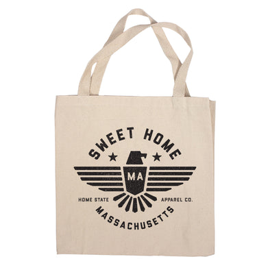 Sweet Home Canvas Tote Bag - Massachusetts