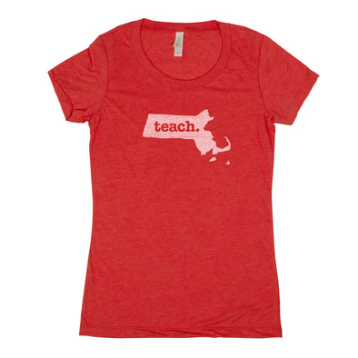 teach. Women's T-Shirt - Massachusetts