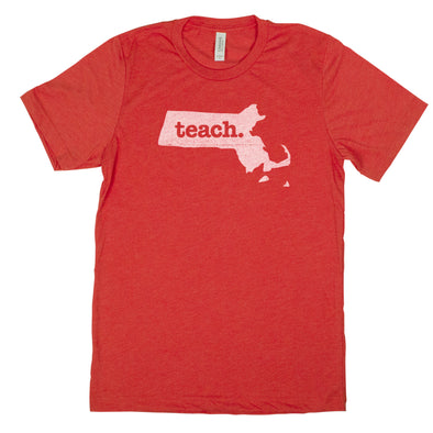 teach. Men's Unisex T-Shirt - Massachusetts