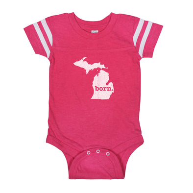 born. Football Baby Bodysuit - Michigan