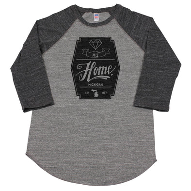 Diamond Men's Unisex Raglan - Michigan