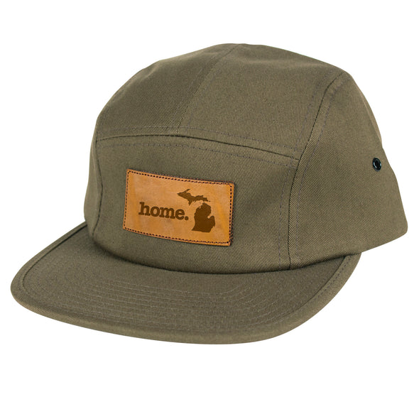 home. Leather Patch Hat - Michigan