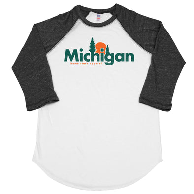 home. Horizon Men's Unisex Raglan - Michigan