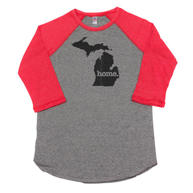 home. Men's Unisex Raglan - Michigan
