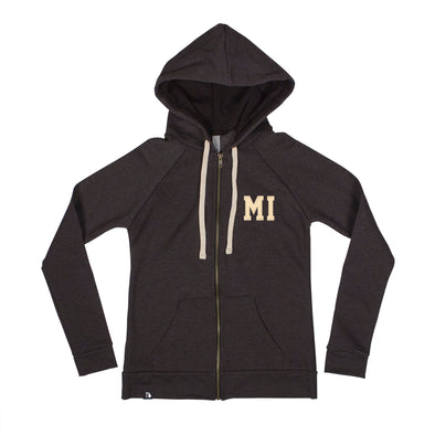 Shorthand Women's Zip Hoodie - Michigan