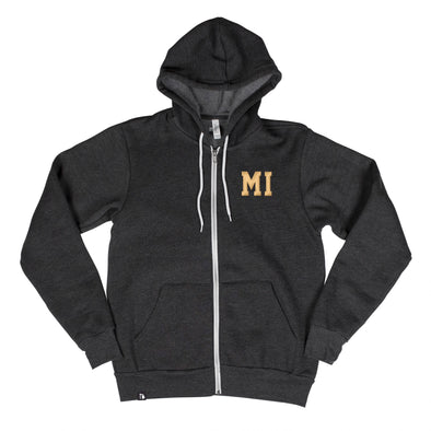 Shorthand Men's Unisex Zip Hoodie - Michigan