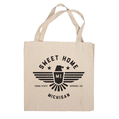 Sweet Home Canvas Tote Bag - Michigan