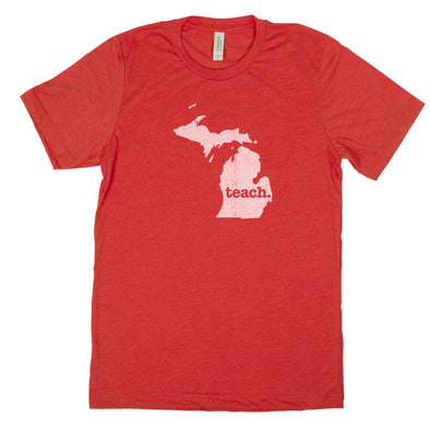 teach. Men's Unisex T-Shirt - Michigan