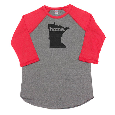 home. Men's Unisex Raglan - Minnesota