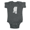 home. Baby Bodysuit - Mississippi