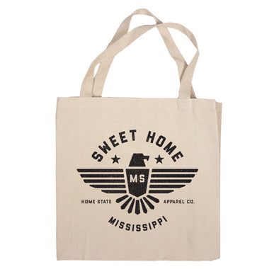 Sweet Home Canvas Tote Bag - Mississippi