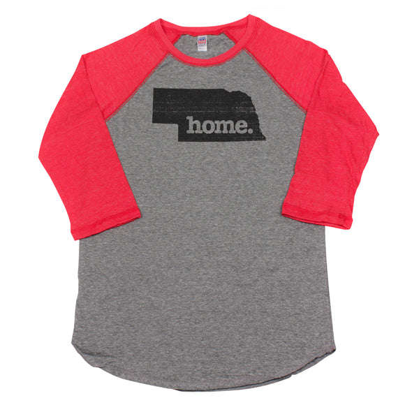 home. Men's Unisex Raglan - Nebraska