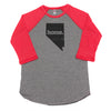 home. Men's Unisex Raglan - Nevada