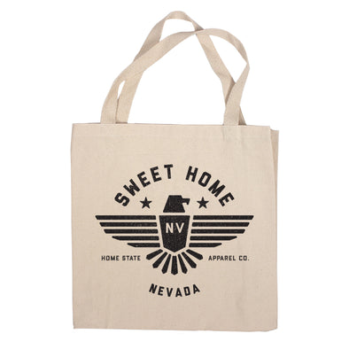 Sweet Home Canvas Tote Bag - Nevada