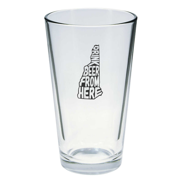 Drink Beer From Here Pint Glass - New Hampshire