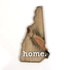 home. Wooden Plaques - New Hampshire
