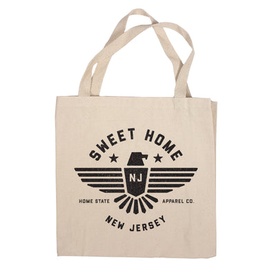 Sweet Home Canvas Tote Bag - New Jersey