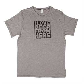 I Love Beer From Here Men's Unisex T-Shirt - New Mexico