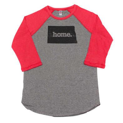 home. Men's Unisex Raglan - North Dakota