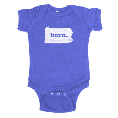 born. Baby Bodysuit - Pennsylvania