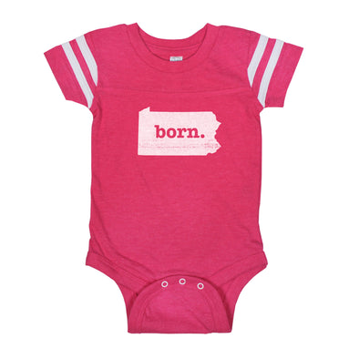 born. Football Baby Bodysuit - Pennsylvania