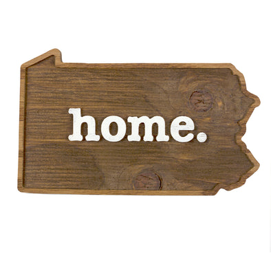 home. Wooden Plaques - Pennsylvania
