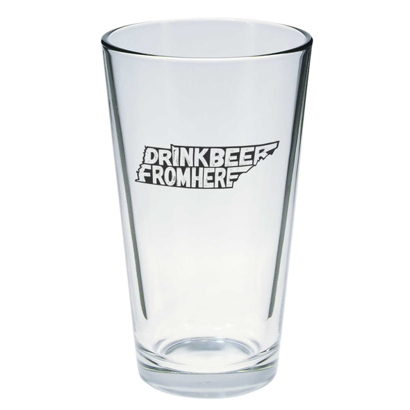Drink Beer From Here Pint Glass - Tennessee