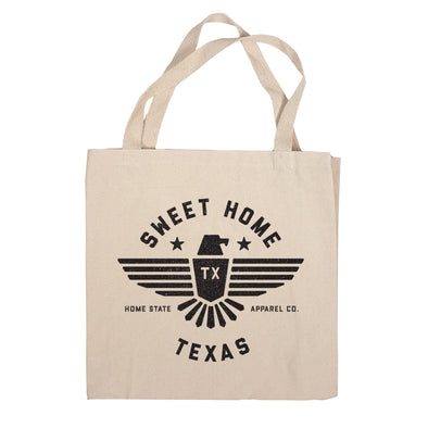 Sweet Home Canvas Tote Bag - Texas