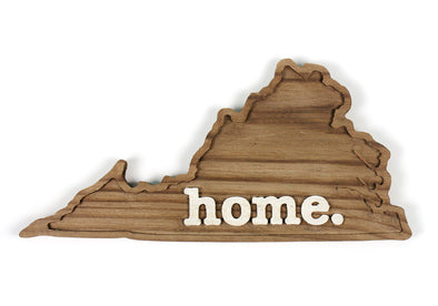 home. Wooden Plaques - Virginia