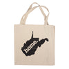 Canvas Tote Bag - West Virginia