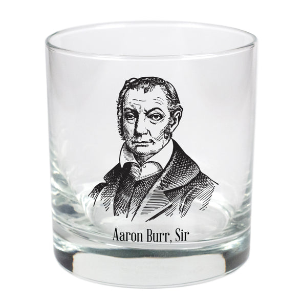 Aaron Burr, Sir  - 11 oz Stylized Rocks Glass
