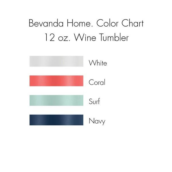 Bevanda home. Drinkware 12oz. Wine Tumbler - Virginia