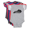 born. Football Baby Bodysuit - Virginia