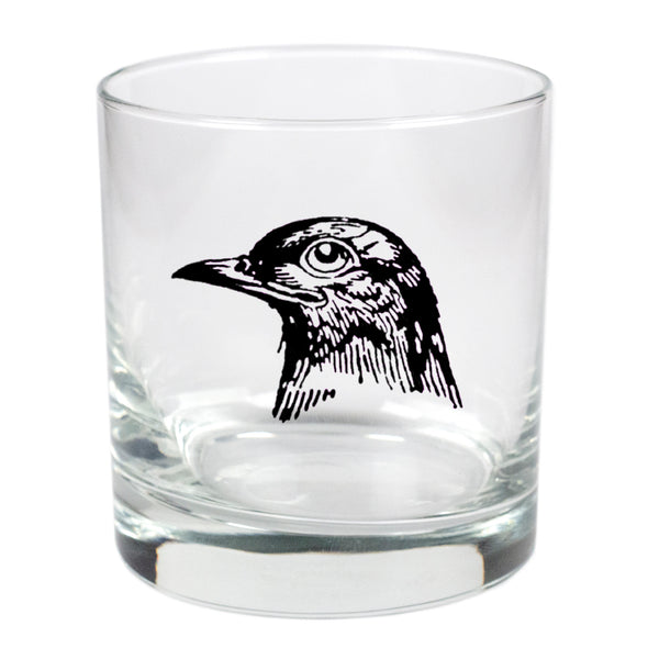 Crow  - 11 oz Stylized Rocks Glass