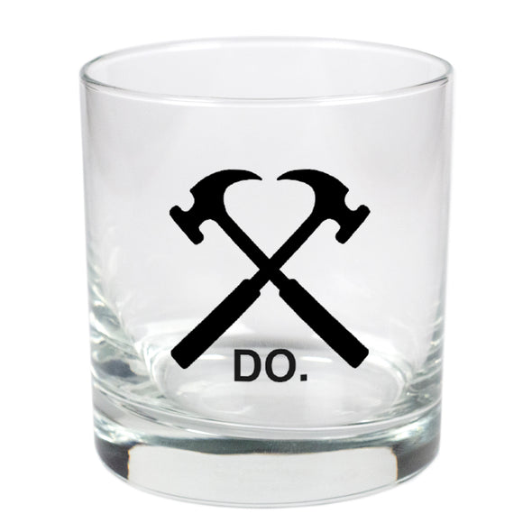 Do. Crossed Hammer  - 11 oz Stylized Rocks Glass