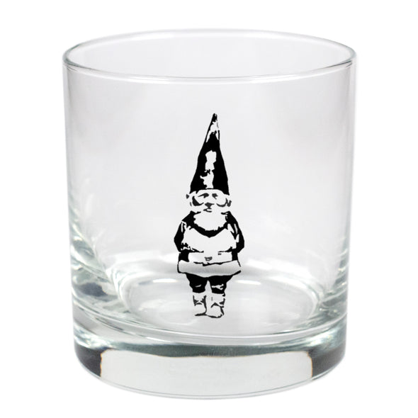 Garden Gnome  - 11 oz Stylized Rocks Glass