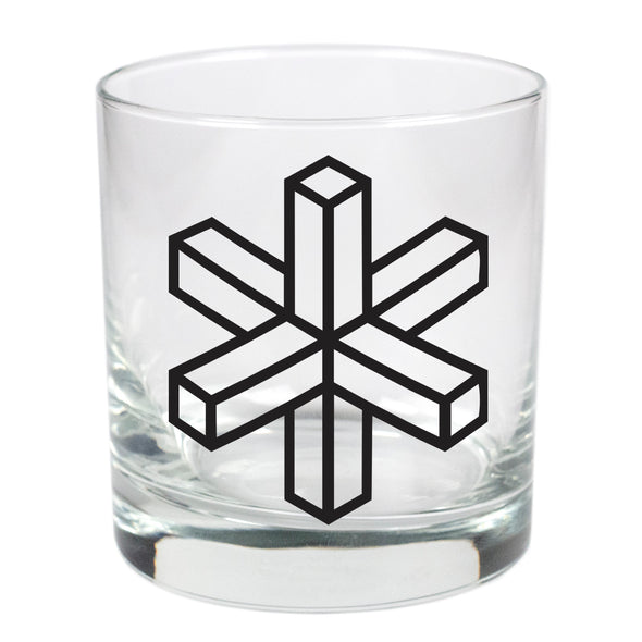 Geometrical Asterisk  - 11 oz Stylized Rocks Glass