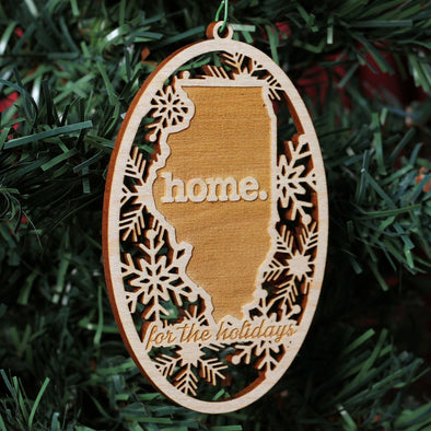Wooden Holiday Ornaments - (6 Pack) Squam Lake