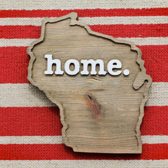 home. Wooden Plaques - Wisconsin