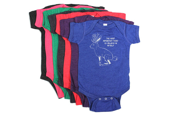 Imaginary Creatures Jackalope Baby Body Suit