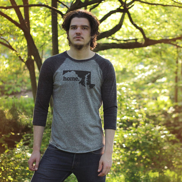 home. Men's Unisex Raglan - West Virginia