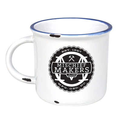 Mischief Makers Local 816 - Ceramic Camping Mug with Light Distressed Look