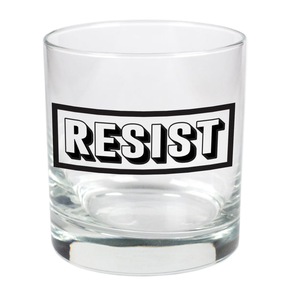 Resist  - 11 oz Stylized Rocks Glass