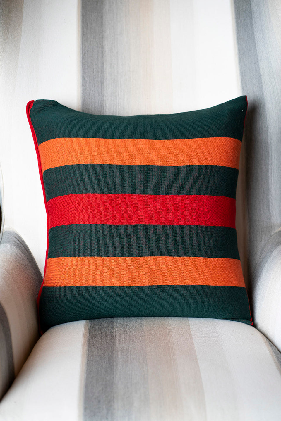 Forest Stripes Pillow