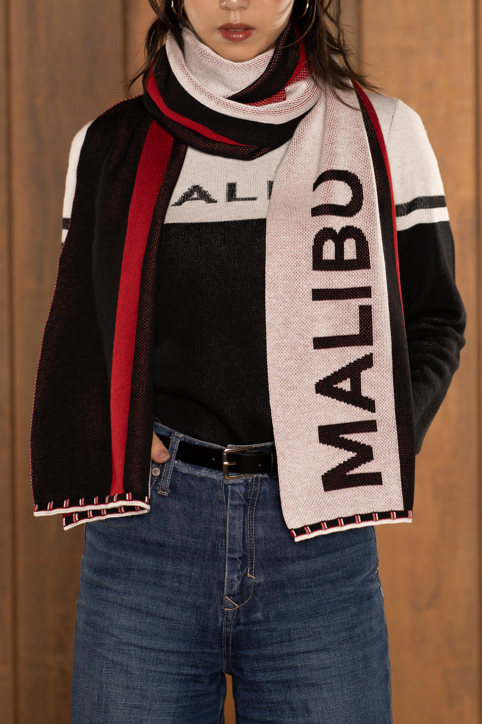 Malibu Color Block Scarf