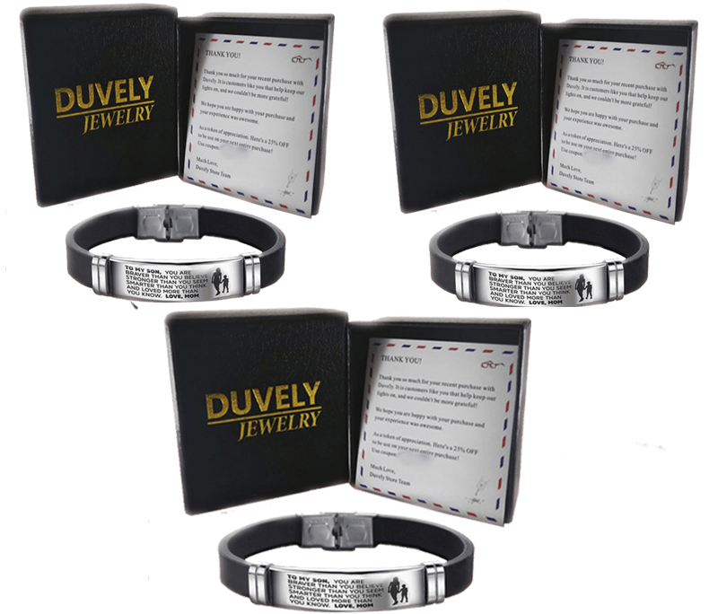 1 From Mom to Son - Steel & Silicone Bracelets - Duvely Store