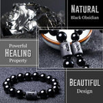 MaGny® Anti-Swelling Dragon Black Obsidian Bracelet